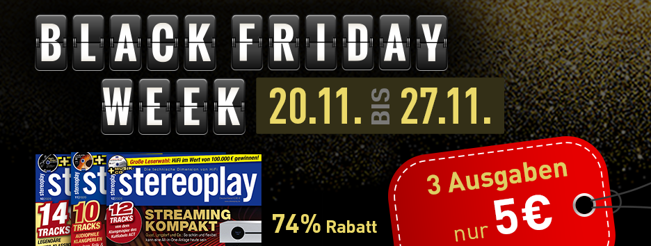 Black Friday Banner stereoplay