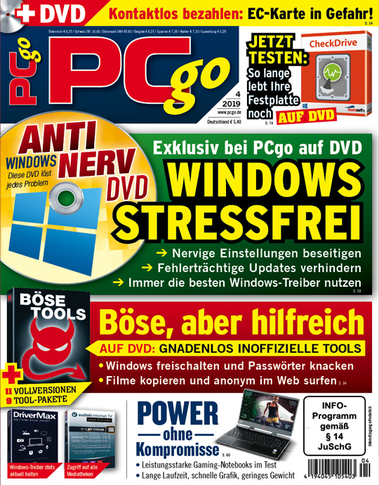 PCgo DVD Ausgabe: 4/2019
